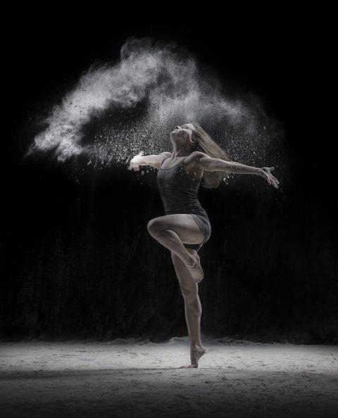 Gym & Dance with flour