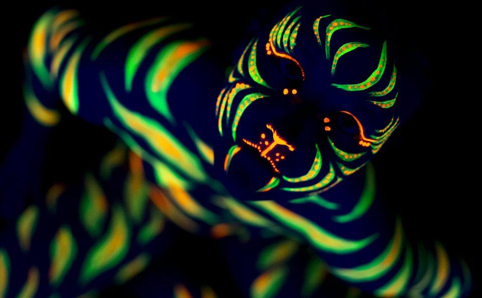 Black light art